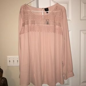 Pink Blouse NWT 3x